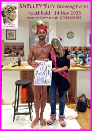 An unexpected Christmas pressy for Shelly - her Life Drawing Model at her event in Heathfield