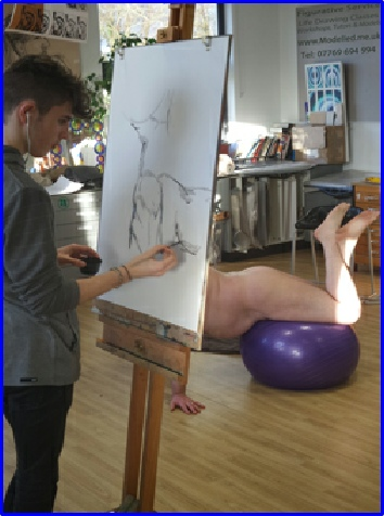 The Tutored Life Drawing Class delivered on Wednesday afternoons in Commonweal school open to 6th formers and interested (external) artists a like
