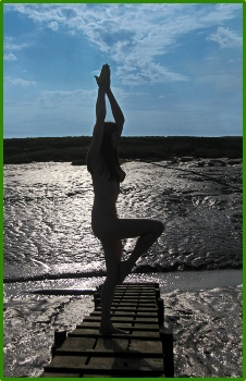Created for an Easter Spa facility - osemarie with a Yoga inspired Pose