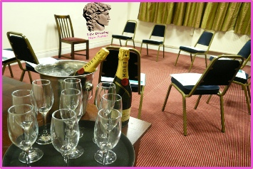 "It is possible for us to arrage for your group to indulge in a little ""Bubbly"" for your Life Drawing Party - please contact us now for details."
