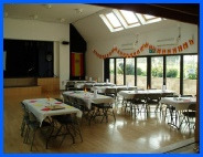 Broad Hinton's village hall provides a great deal of space for the artists to make their home this year.