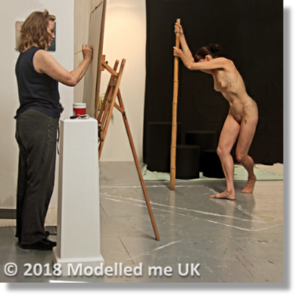 Always a catalyst to the artists talent - Rosemarie delivering another dynamic,challenging pose.